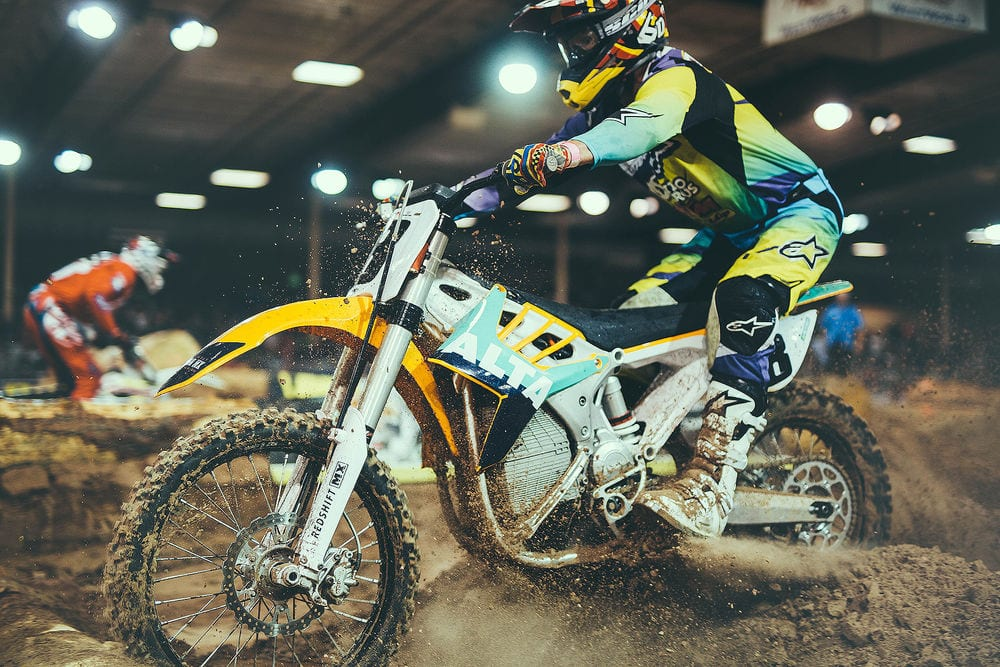 Alta Electric Motorcycle Endurocross national victory