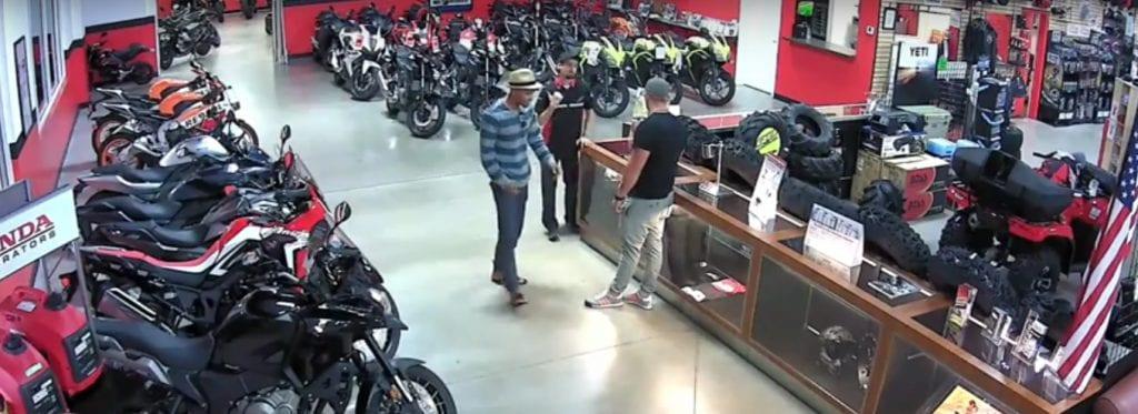 Burglars Hit Honda Motorcycle Dealership