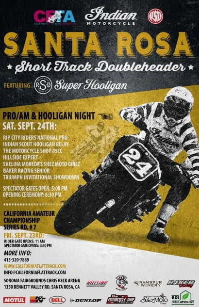 Indian Motorcycles AMA Finale Santa Rosa September 24th