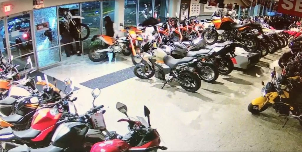 Manchester Powersports Dealership Robbed of 3 Motorcycles