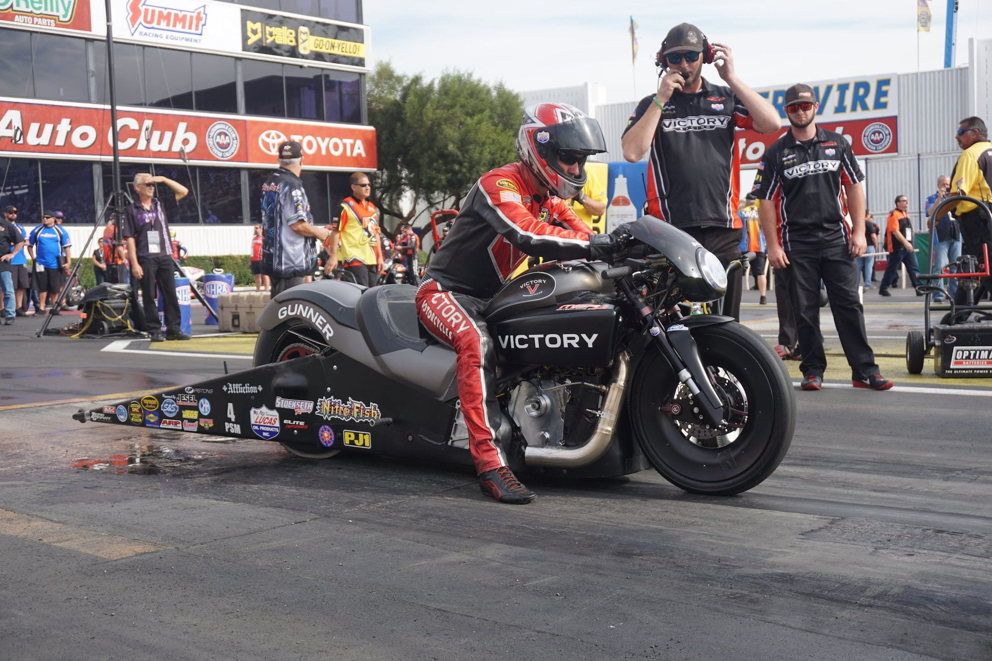 NHRA Pro Stock Victory Motorcycles 1st Win
