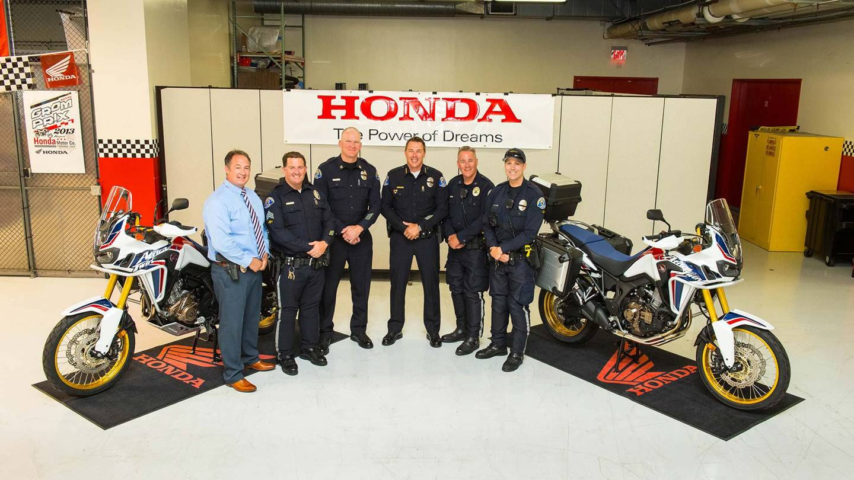 Honda donates two Africa Twin Bikes to the Redondo Beach Police Department