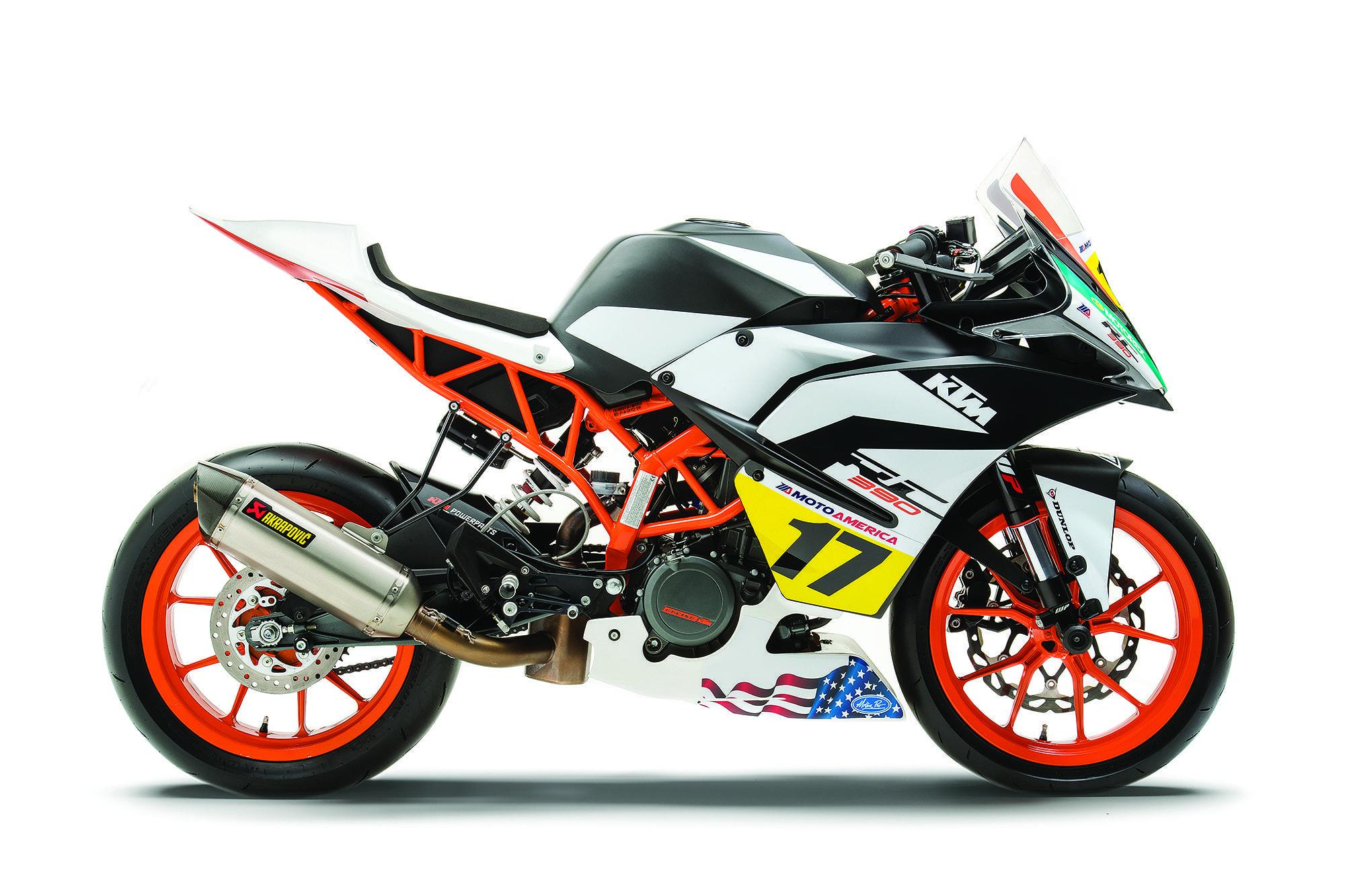 2017 KTM Racebike RC 390 Cup Motorcycle