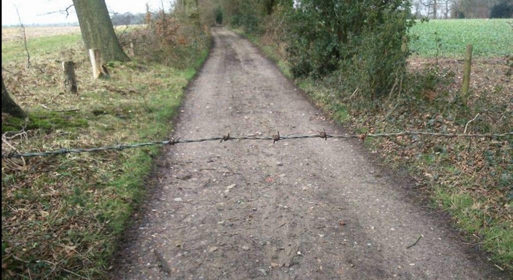 AMA Public Trail Booby Trap Warning