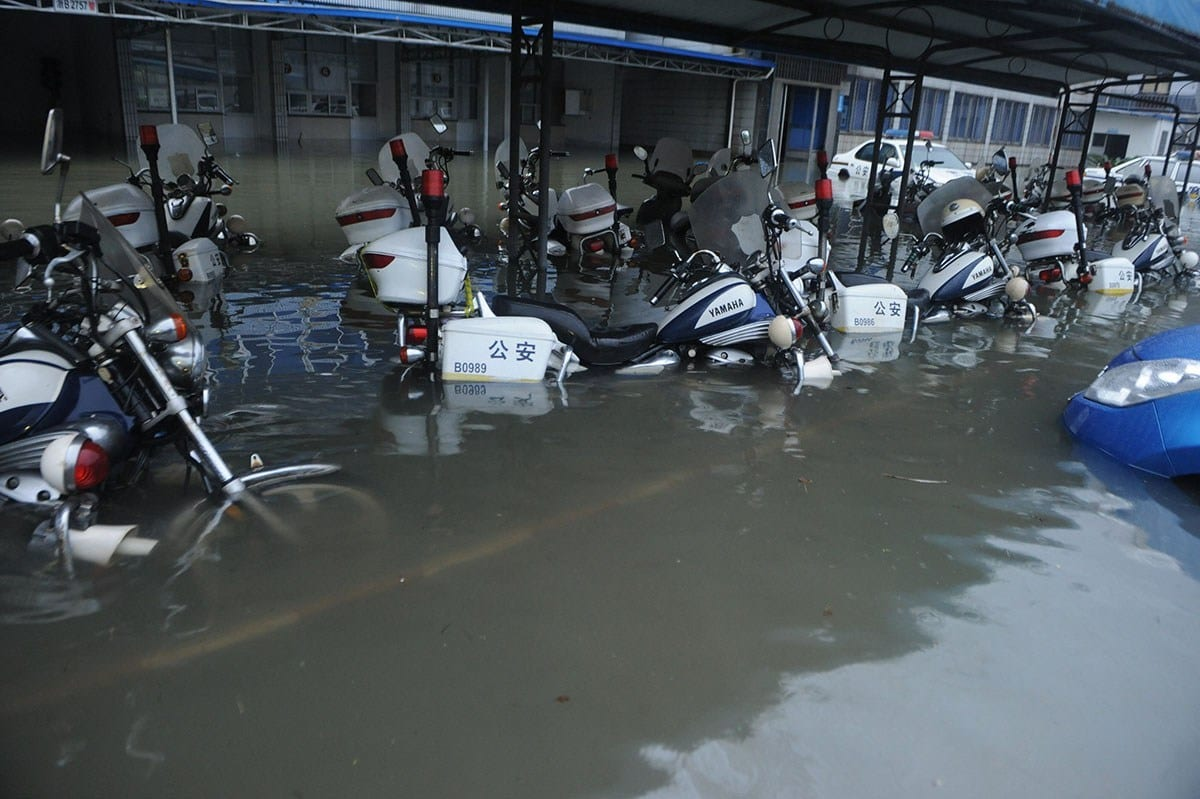 Hurricane Flood Damaged Motorcycles