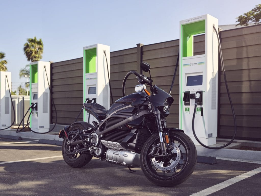 Harley Davidson LiveWire Electric Motorcycle Free Charging