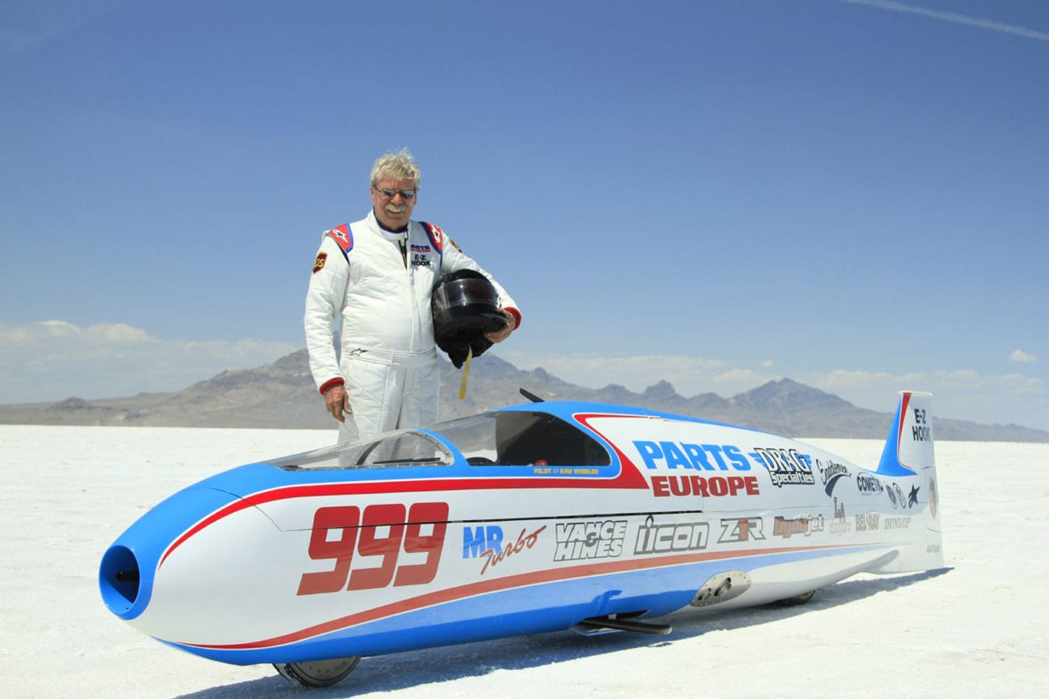 Sam Wheeler at Bonneville Salt Flats